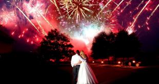Wedding with Fireworks