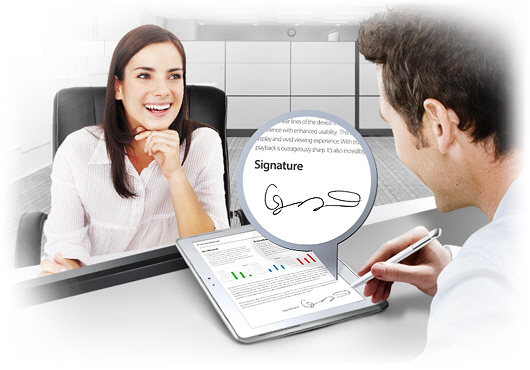 E-signature features