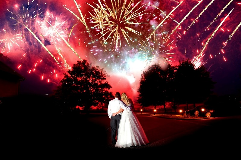 Wedding with Fireworks